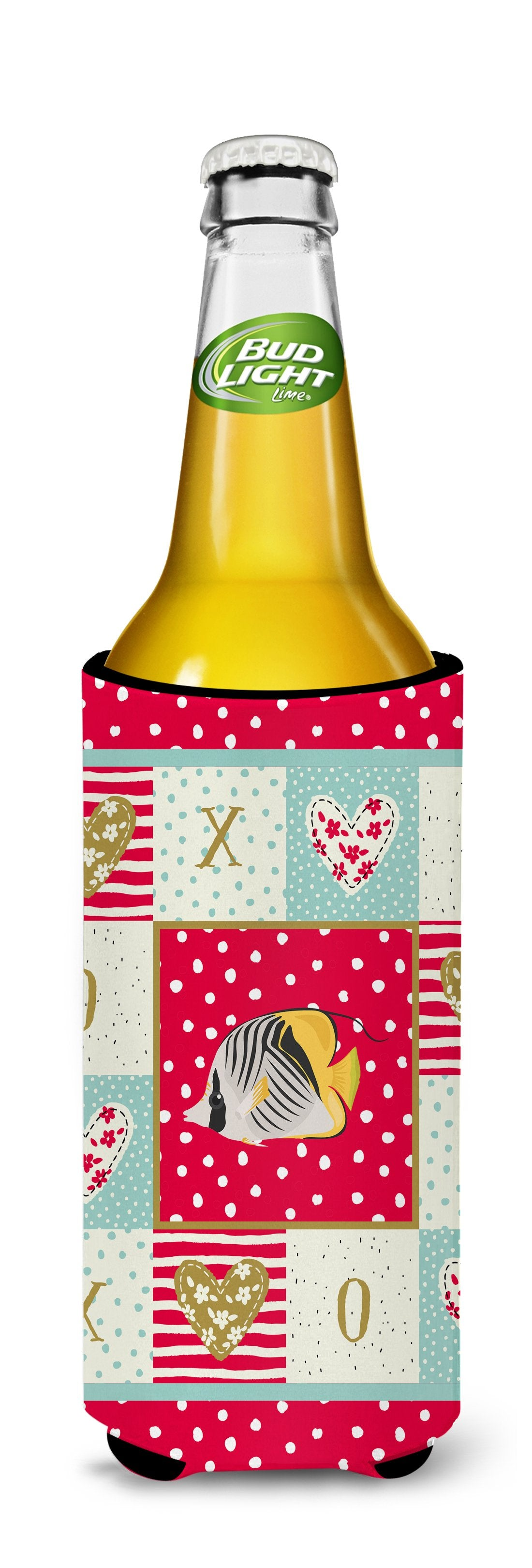Butterfly Fish Love Michelob Ultra Hugger for slim cans CK5466MUK by Caroline's Treasures