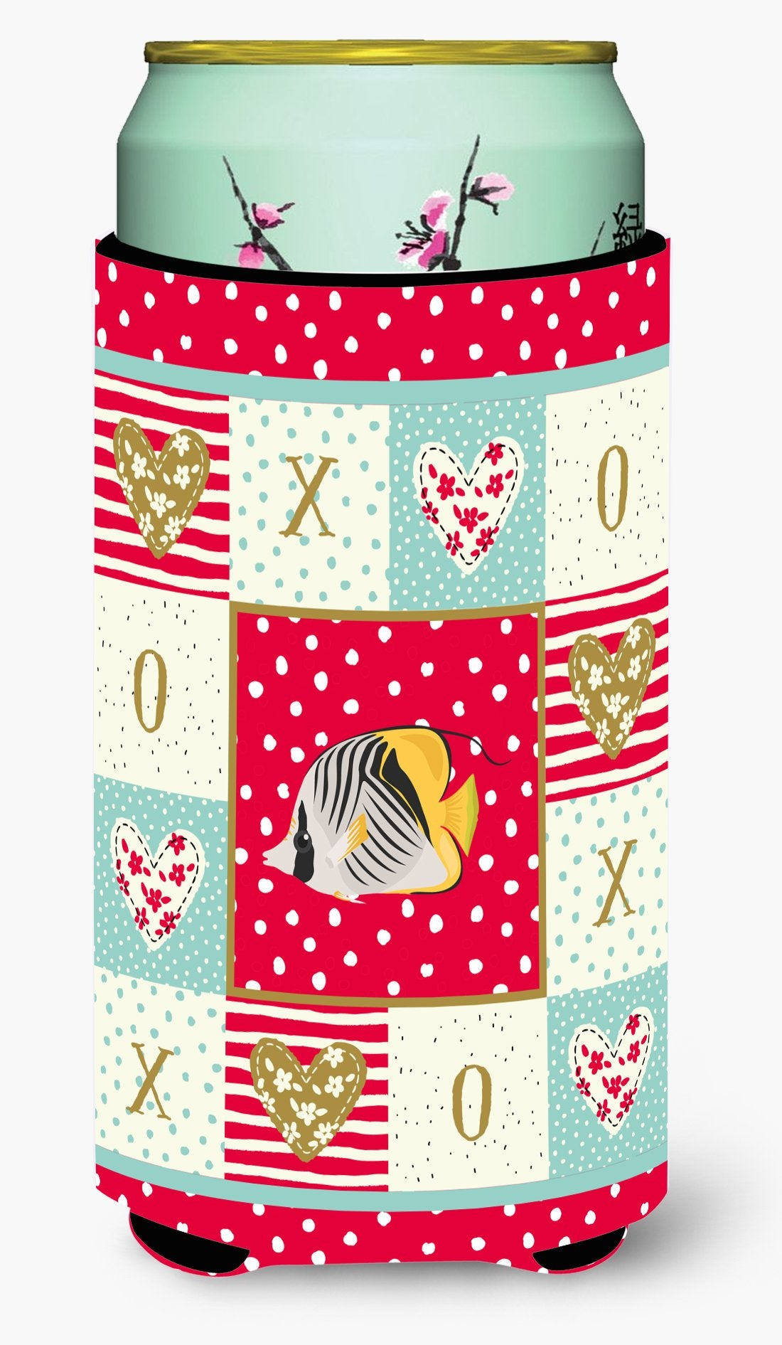 Butterfly Fish Love Tall Boy Beverage Insulator Hugger CK5466TBC by Caroline's Treasures