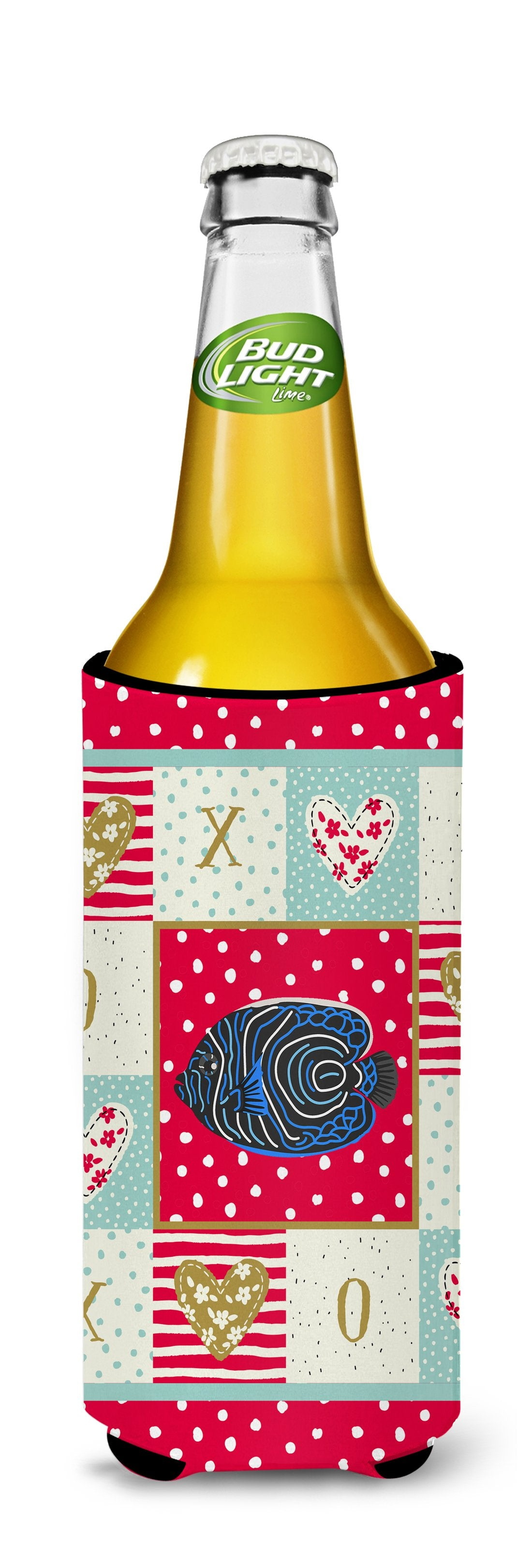 Emperor Angelfish Love Michelob Ultra Hugger for slim cans CK5469MUK by Caroline's Treasures