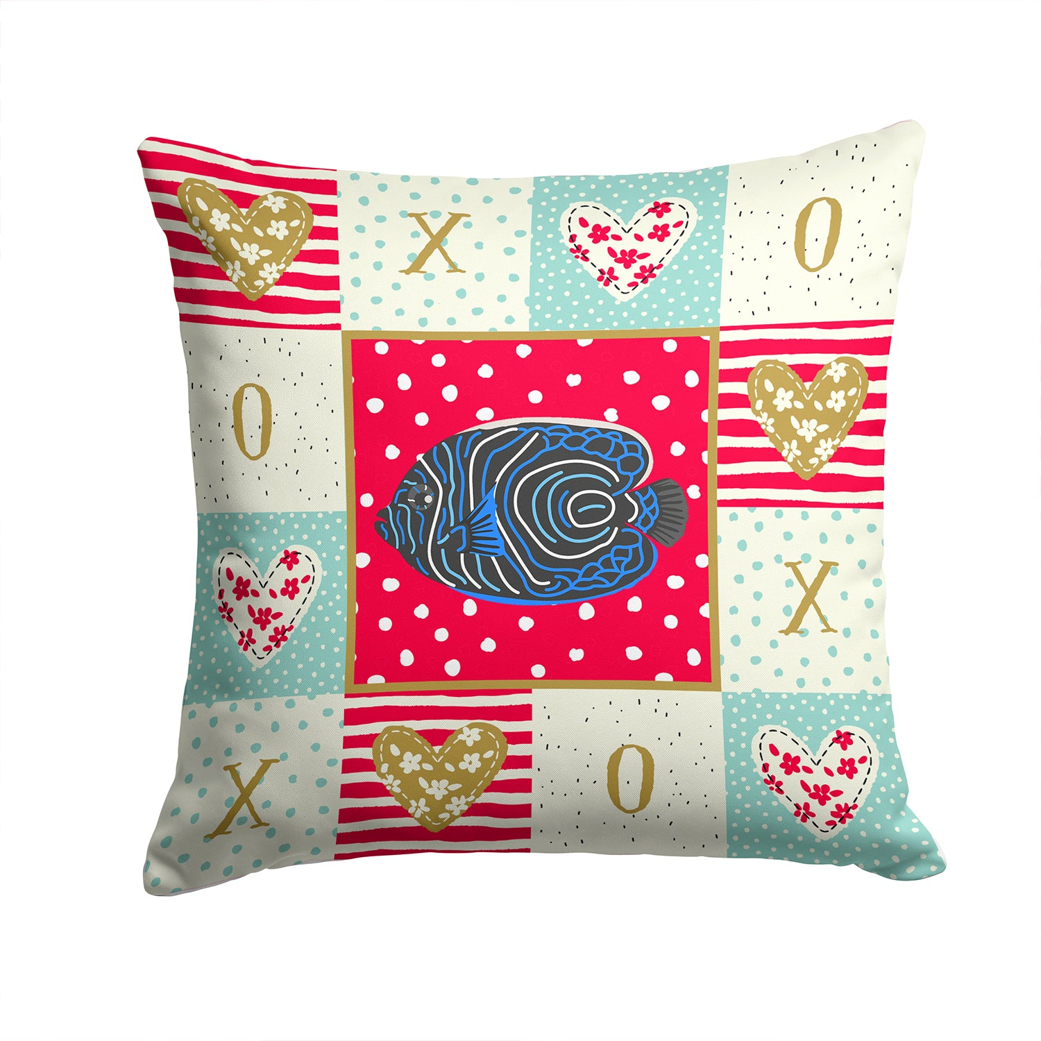 Buy this Emperor Angelfish Love Fabric Decorative Pillow CK5469PW1414