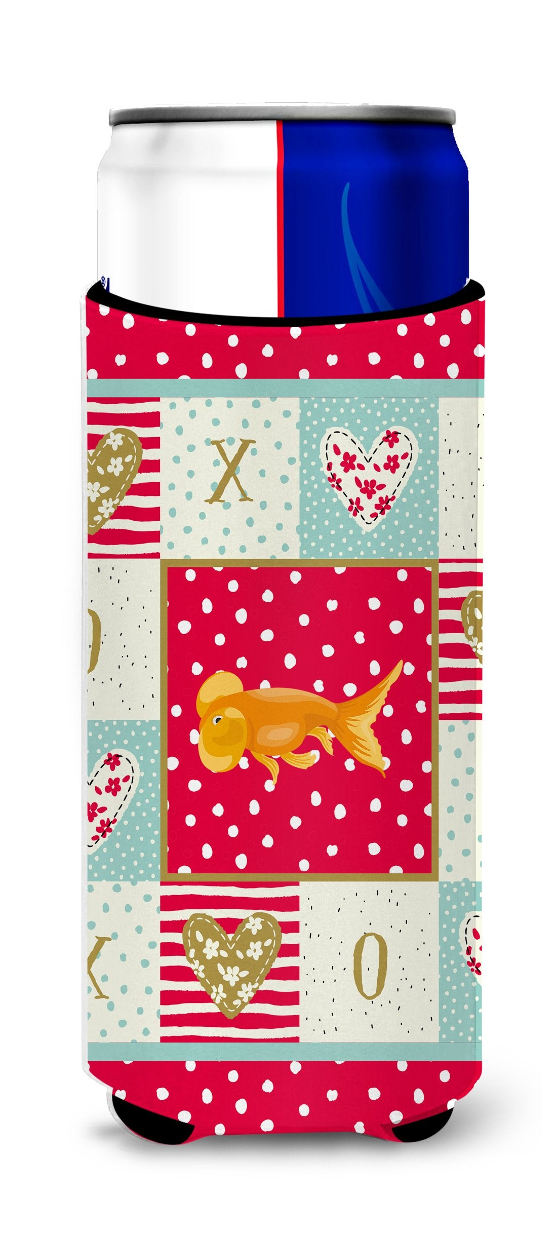 Bubble Eyed Goldfish Love Michelob Ultra Hugger for slim cans CK5470MUK by Caroline's Treasures