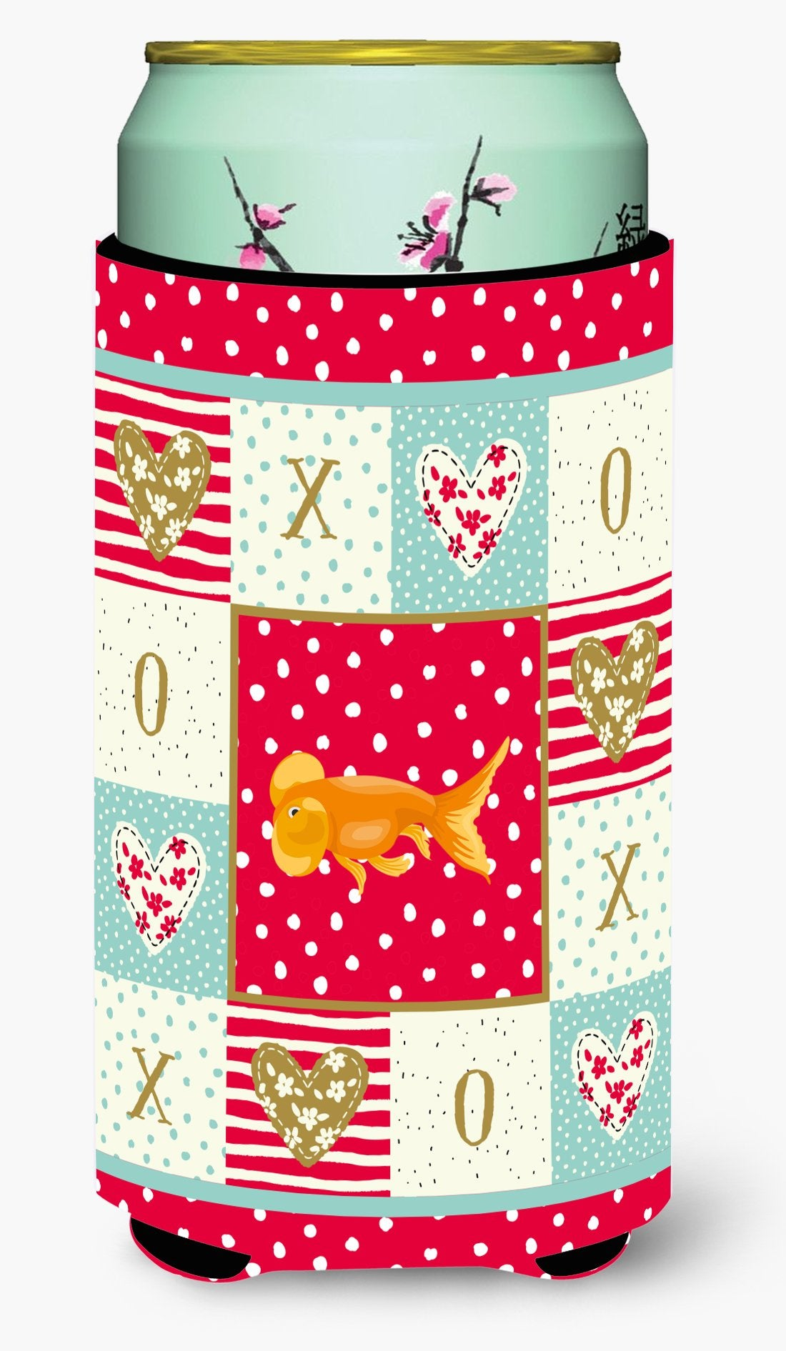 Bubble Eyed Goldfish Love Tall Boy Beverage Insulator Hugger CK5470TBC by Caroline's Treasures