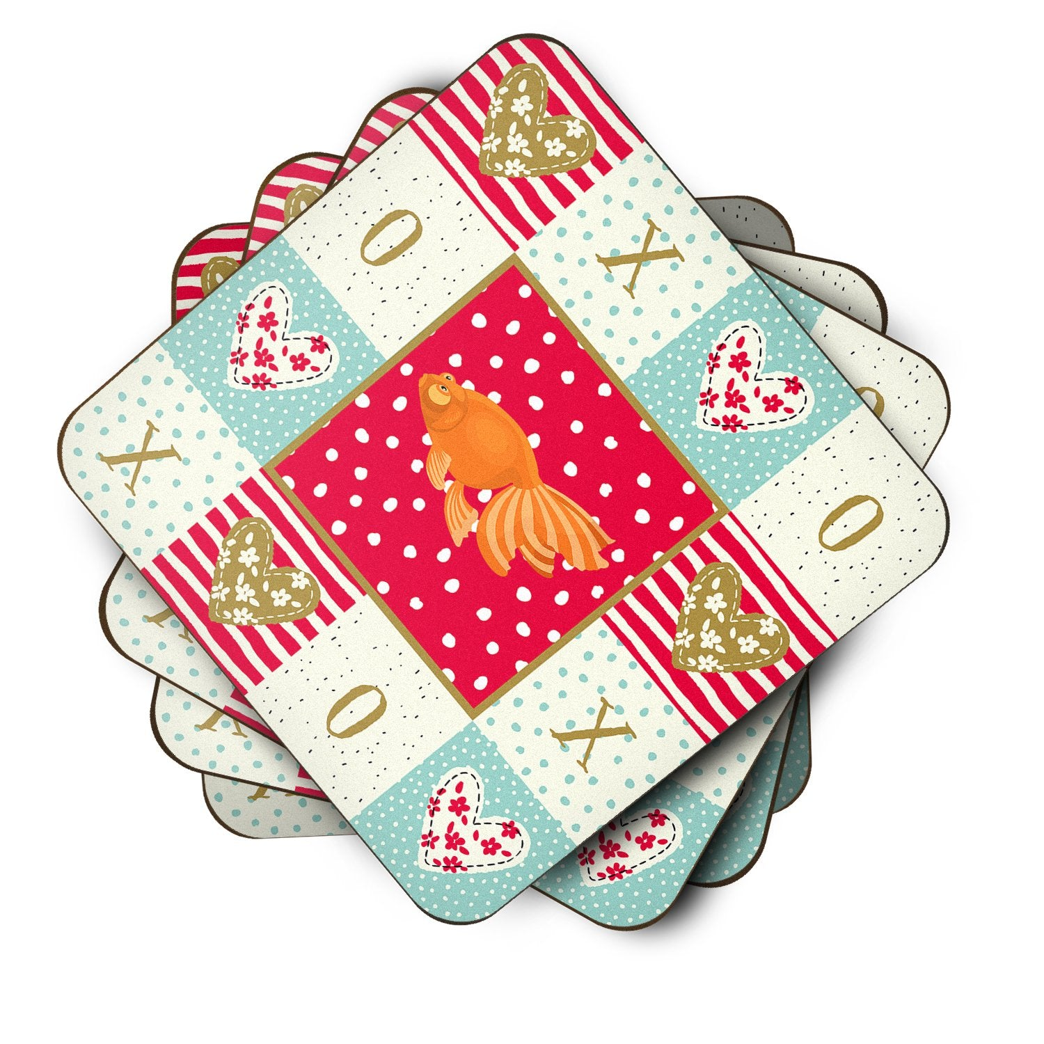 Buy this Set of 4 Celestial Eye Goldfish Love Foam Coasters Set of 4 CK5471FC