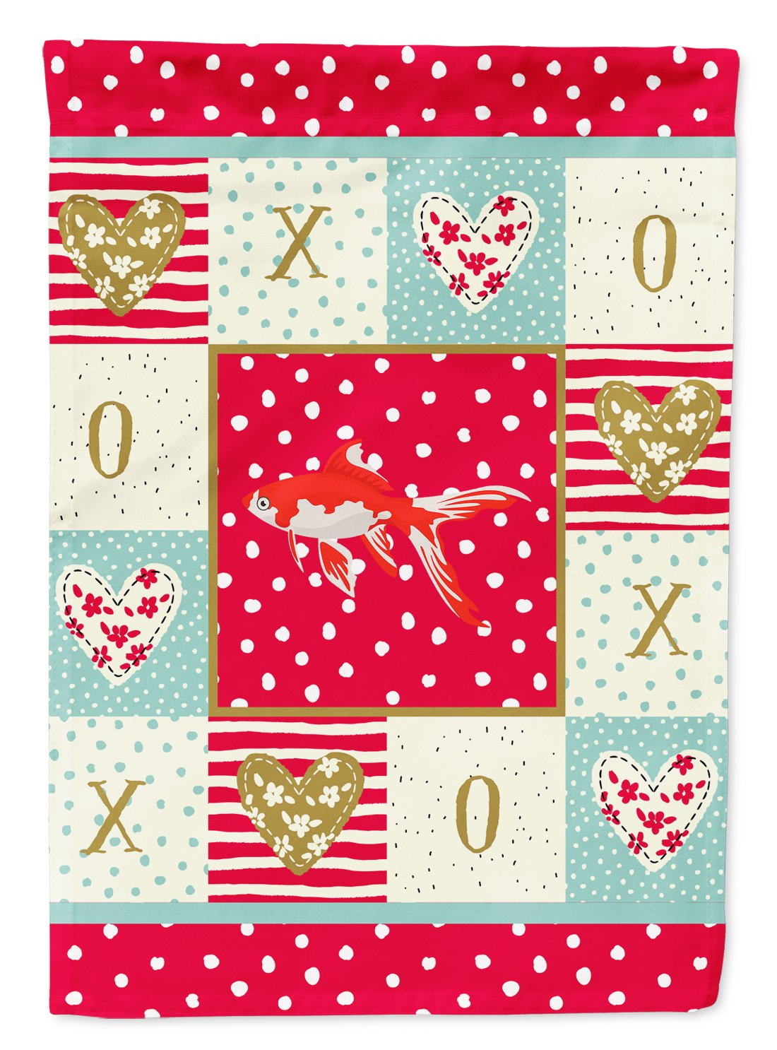 Comet Goldfish Love Flag Garden Size CK5472GF by Caroline's Treasures