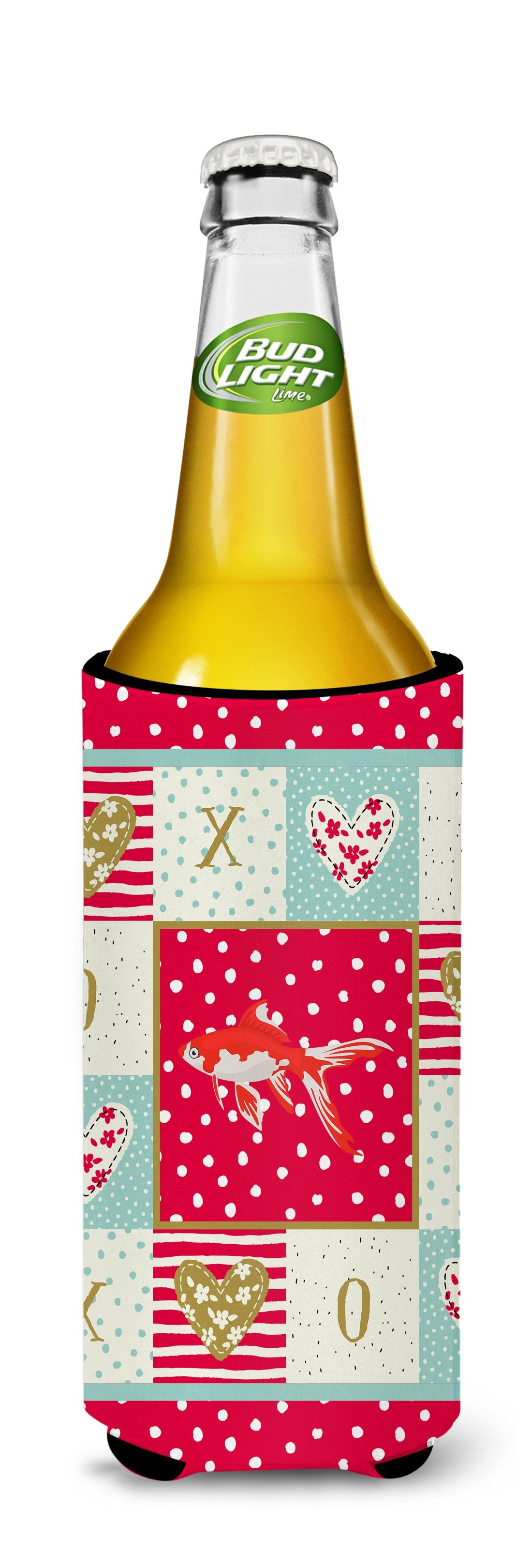 Comet Goldfish Love Michelob Ultra Hugger for slim cans CK5472MUK by Caroline's Treasures