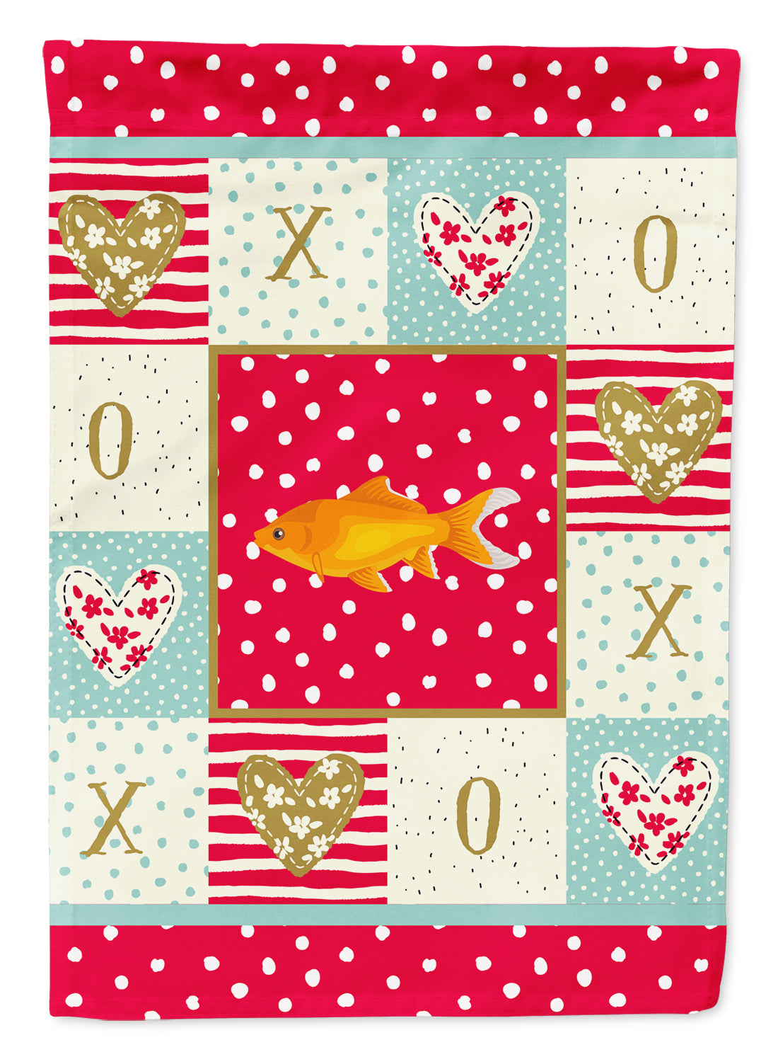 Goldfish Common Love Flag Canvas House Size CK5473CHF by Caroline's Treasures