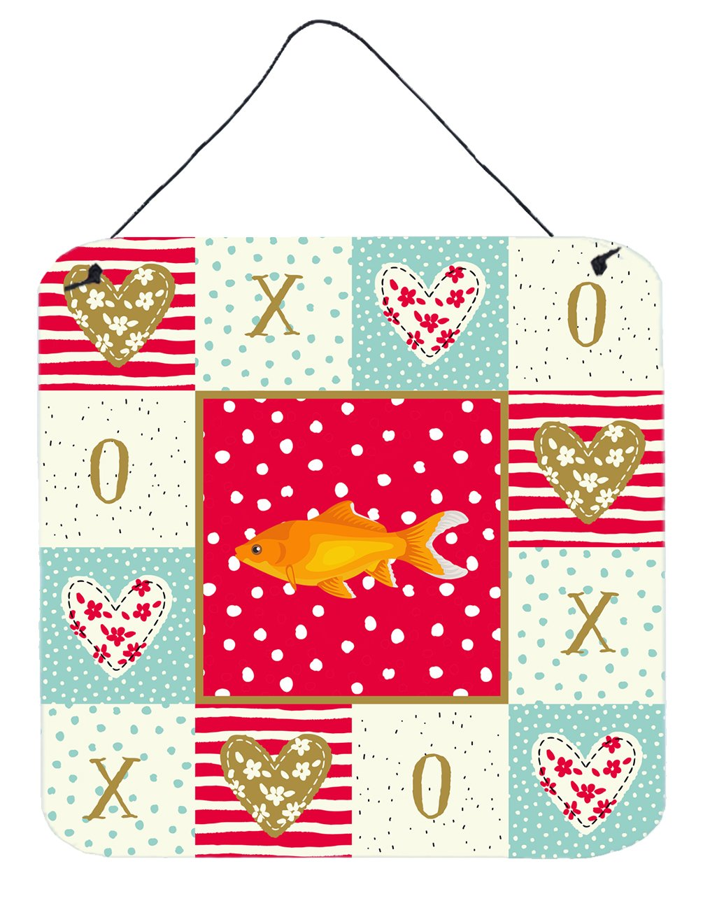 Goldfish Common Love Wall or Door Hanging Prints CK5473DS66 by Caroline's Treasures