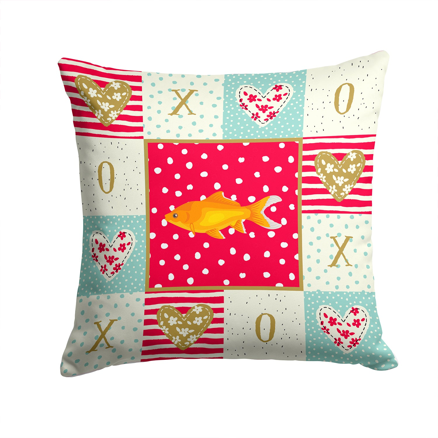Goldfish Common Love Fabric Decorative Pillow CK5473PW1414 by Caroline's Treasures