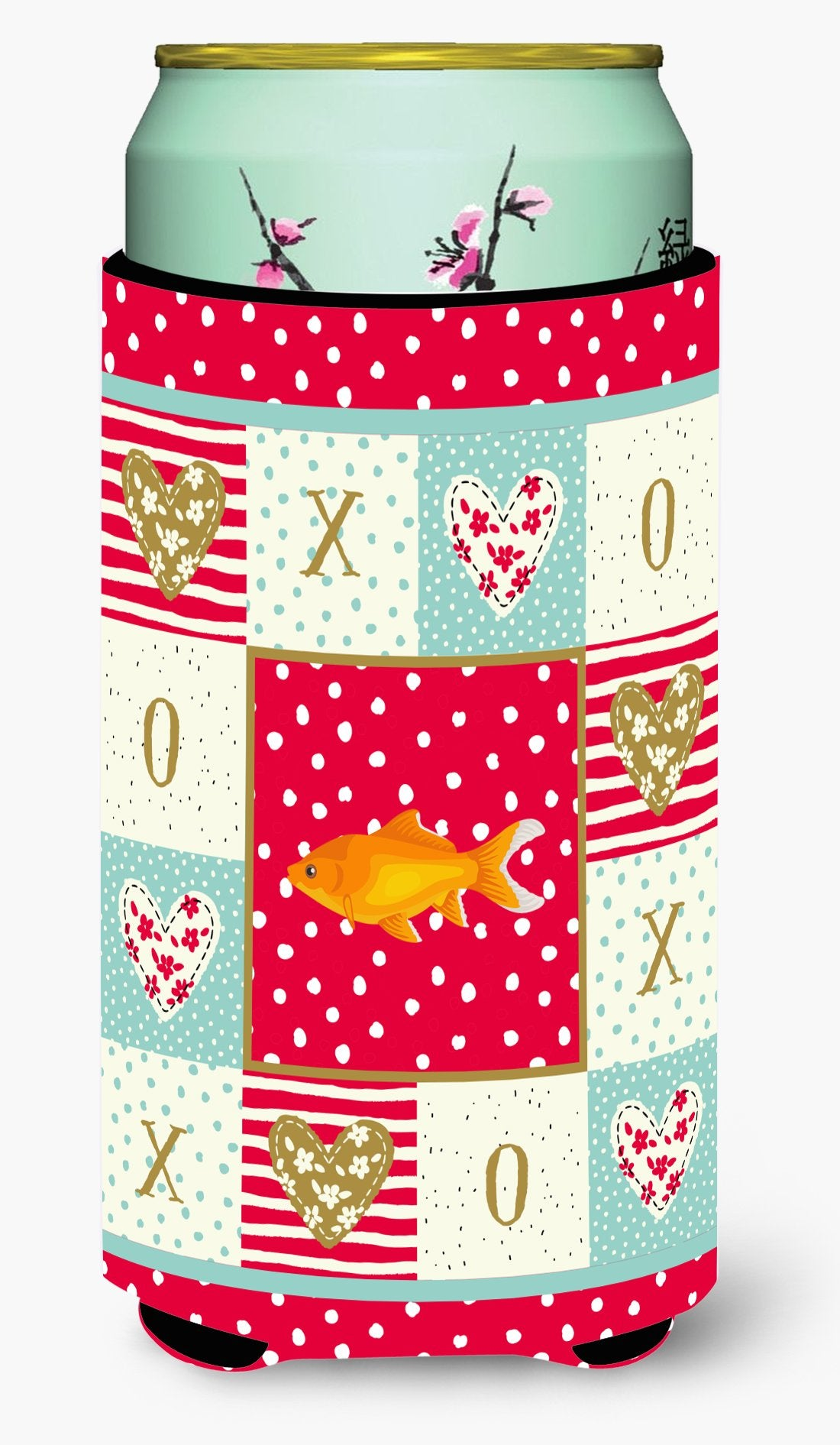Goldfish Common Love Tall Boy Beverage Insulator Hugger CK5473TBC by Caroline's Treasures