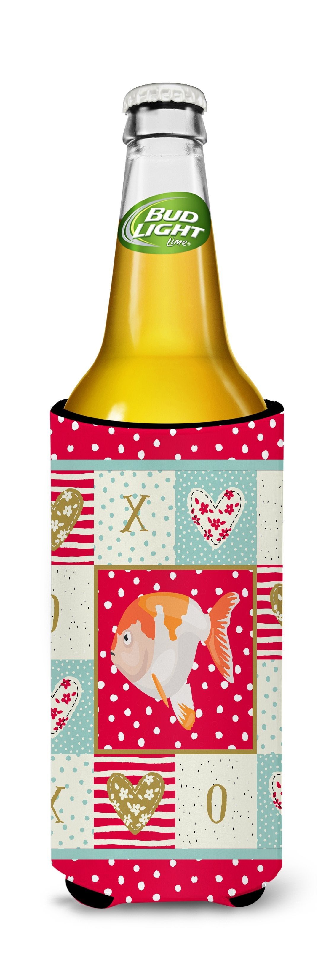 Lionhead Goldfish Love Michelob Ultra Hugger for slim cans CK5474MUK by Caroline's Treasures
