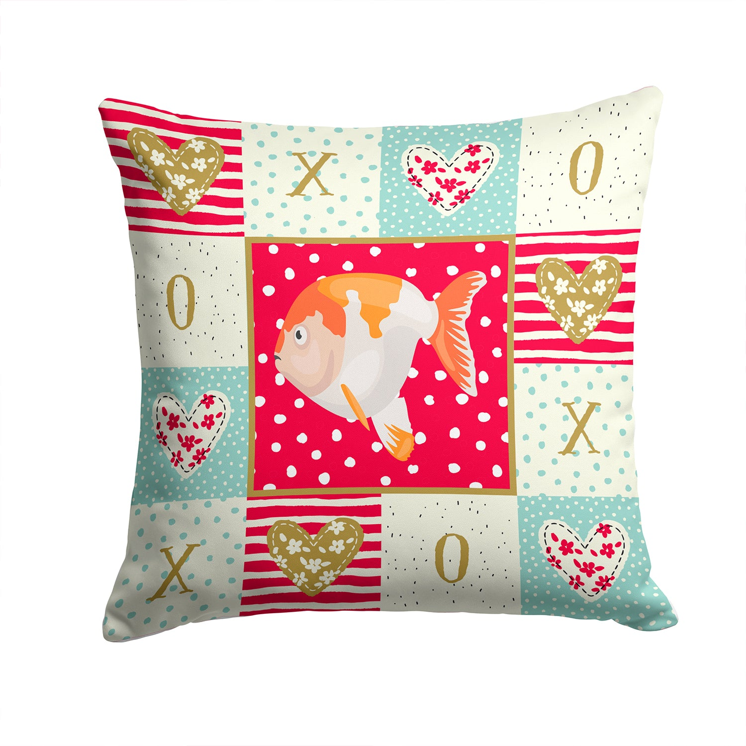 Buy this Lionhead Goldfish Love Fabric Decorative Pillow CK5474PW1414