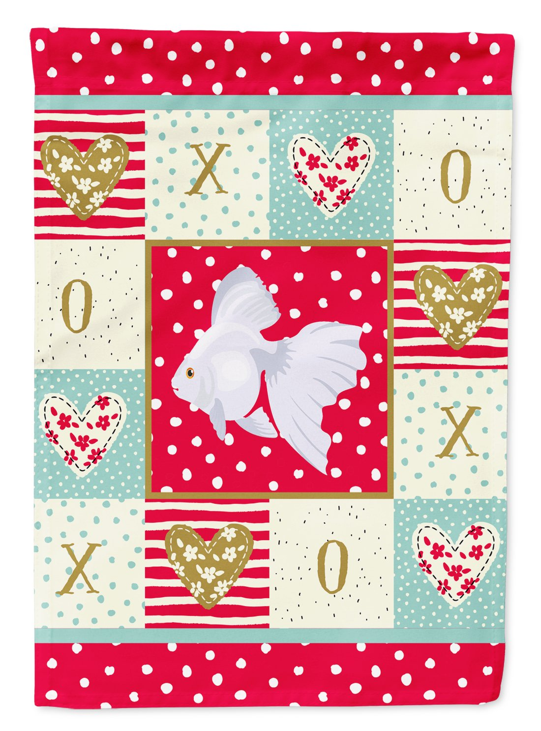 Ryukin Goldfish Love Flag Garden Size CK5477GF by Caroline's Treasures