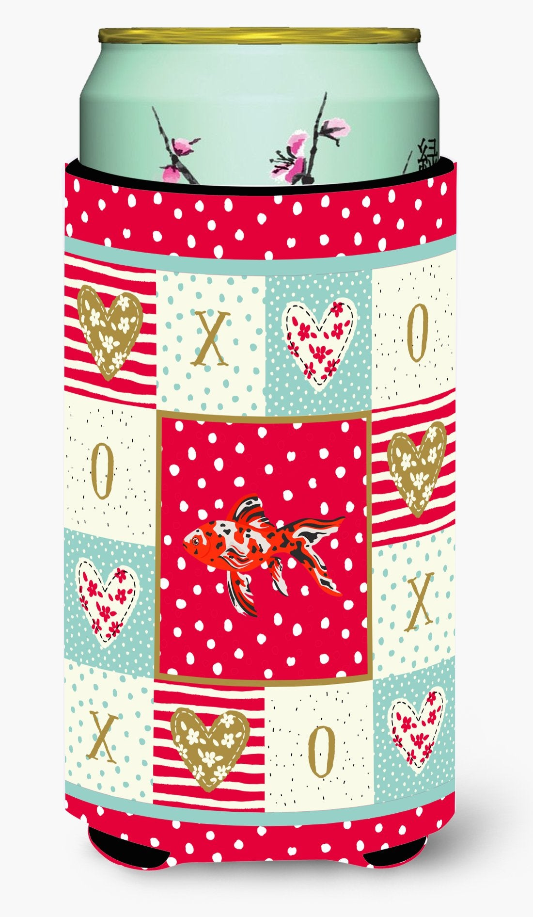 Shubunkin Goldfish Love Tall Boy Beverage Insulator Hugger CK5478TBC by Caroline's Treasures