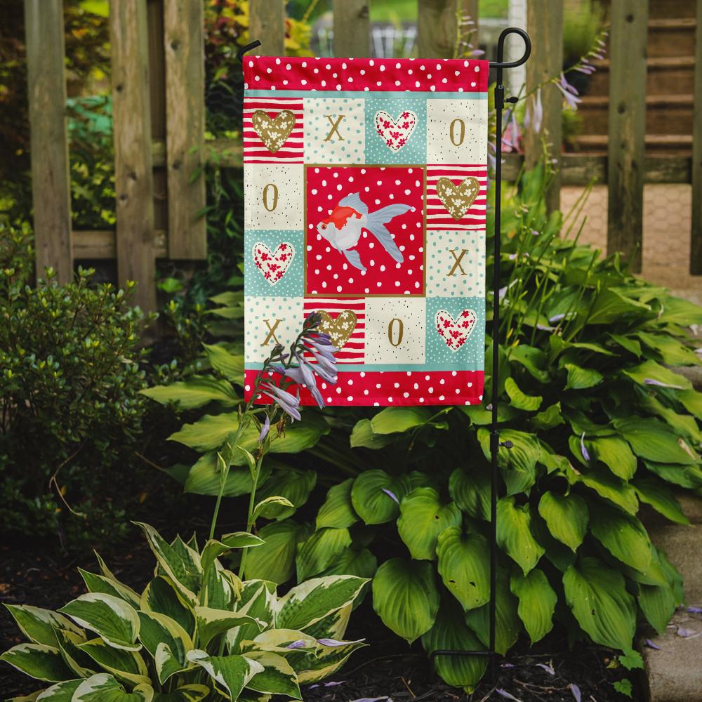 Tamasaba Goldfish Love Flag Garden Size CK5479GF by Caroline's Treasures
