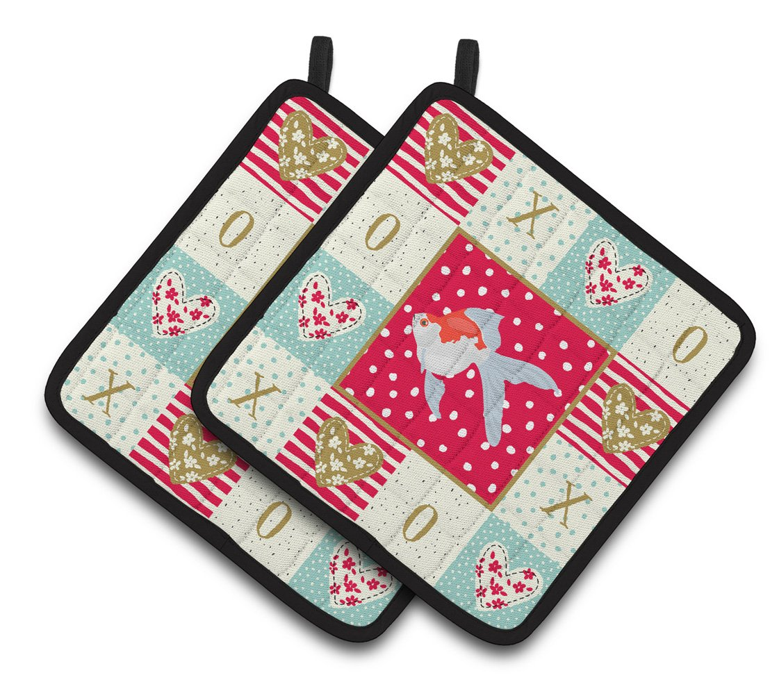 Buy this Tamasaba Goldfish Love Pair of Pot Holders CK5479PTHD
