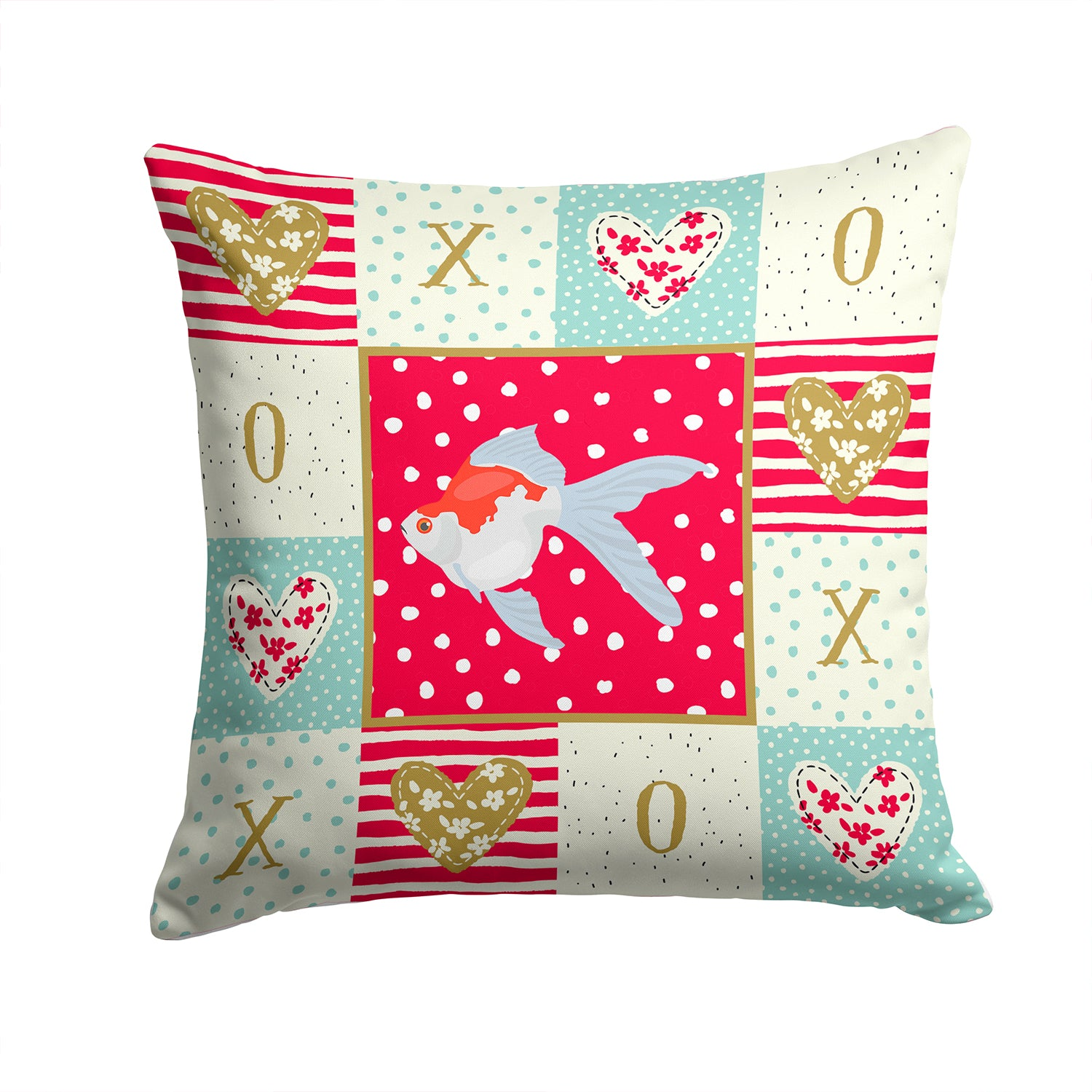 Buy this Tamasaba Goldfish Love Fabric Decorative Pillow CK5479PW1414