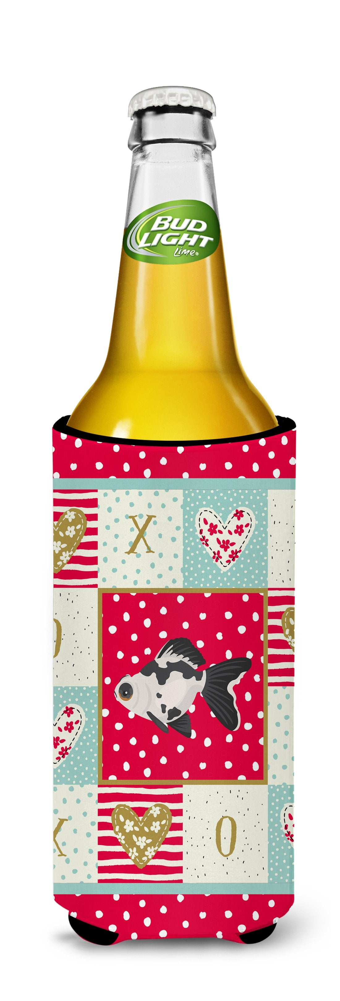 Telescope Eye Goldfish Love Michelob Ultra Hugger for slim cans CK5480MUK by Caroline's Treasures