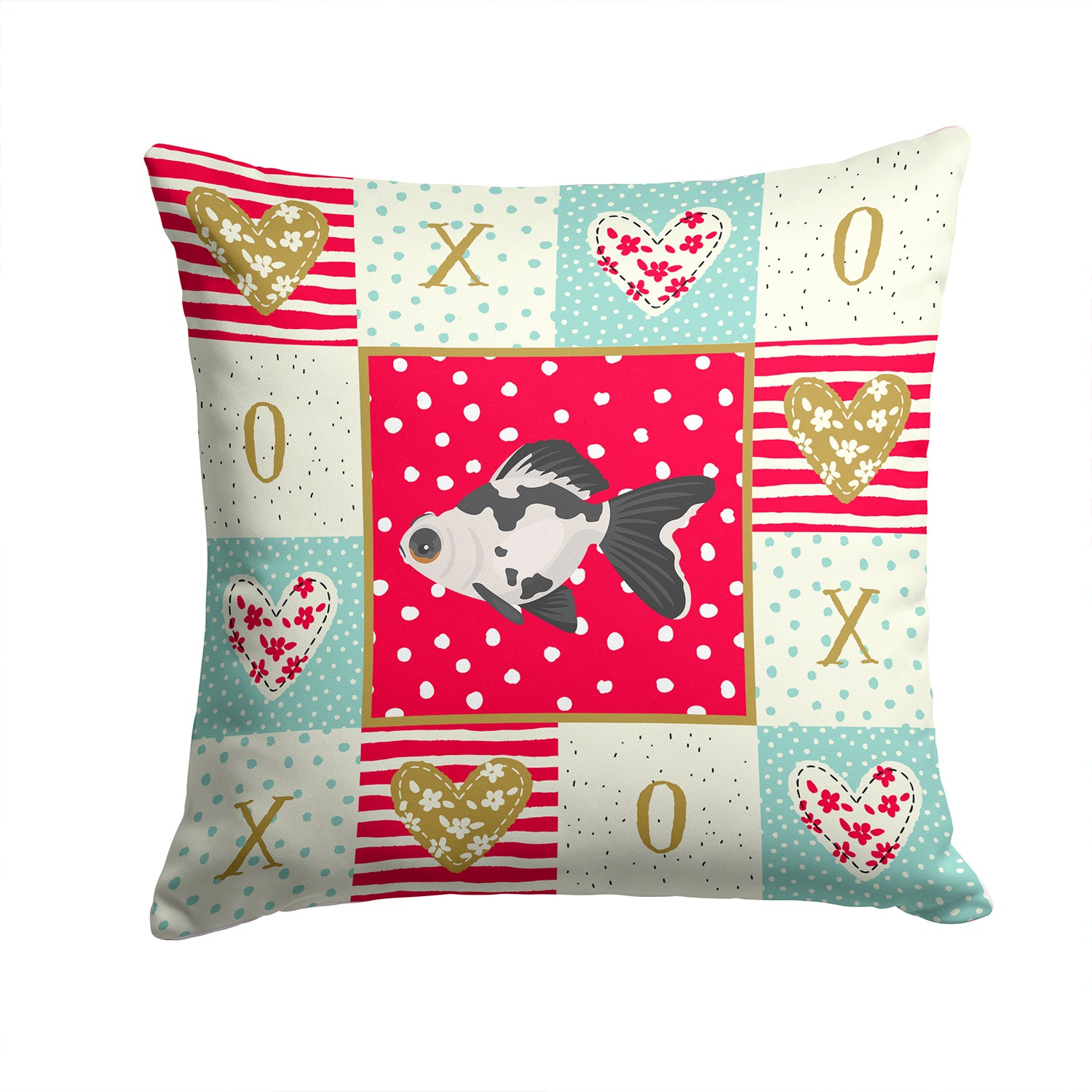 Buy this Telescope Eye Goldfish Love Fabric Decorative Pillow CK5480PW1414