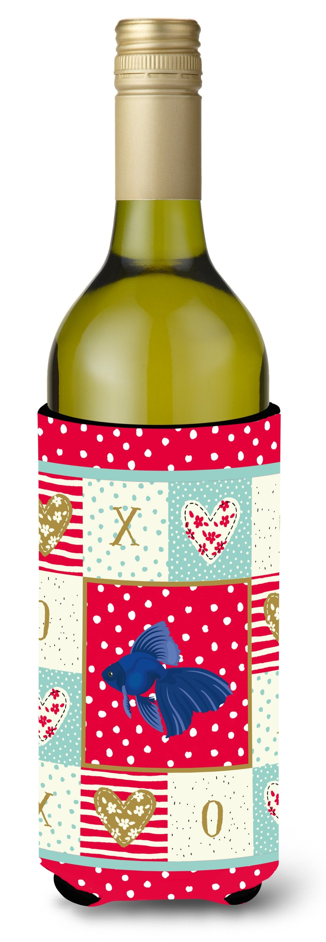 Veiltail Goldfish Love Wine Bottle Hugger CK5481LITERK by Caroline's Treasures