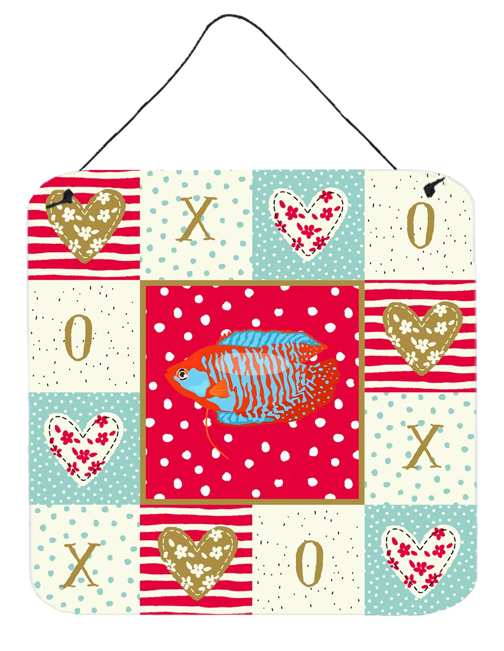 Dwarf Gourami Love Wall or Door Hanging Prints CK5485DS66 by Caroline's Treasures