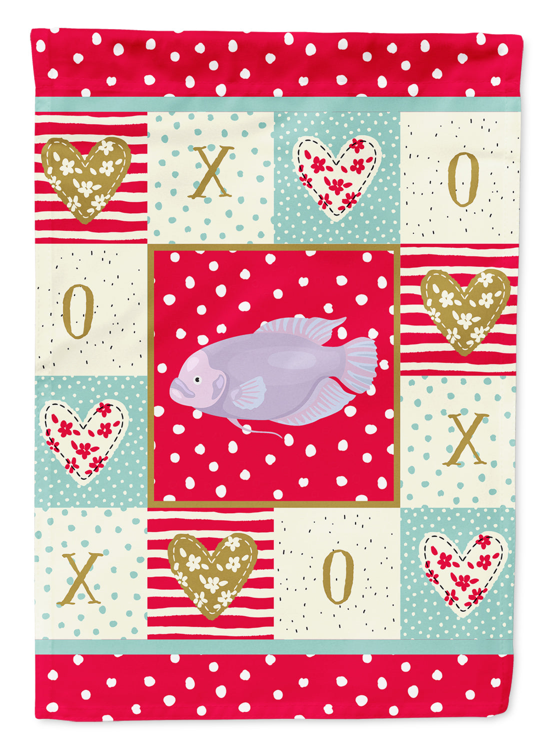 Buy this Giant Gourami Love Flag Canvas House Size CK5487CHF