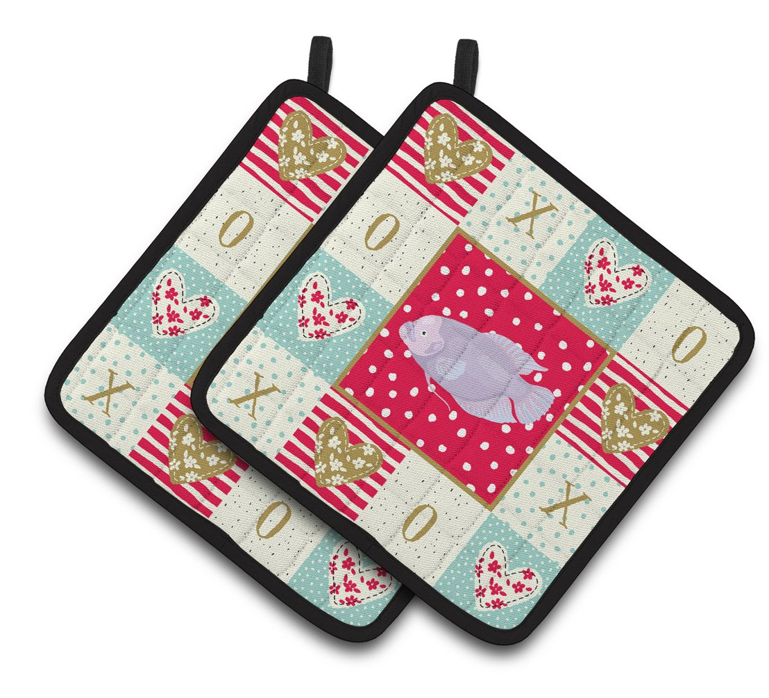 Buy this Giant Gourami Love Pair of Pot Holders CK5487PTHD