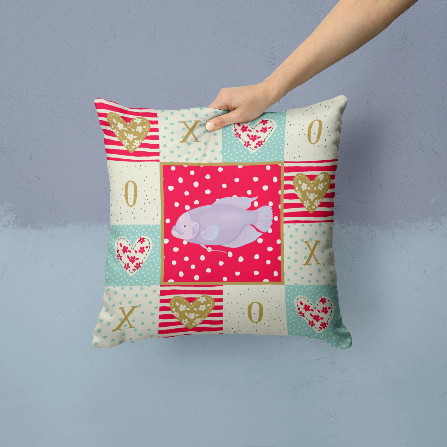 Buy this Giant Gourami Love Fabric Decorative Pillow CK5487PW1414