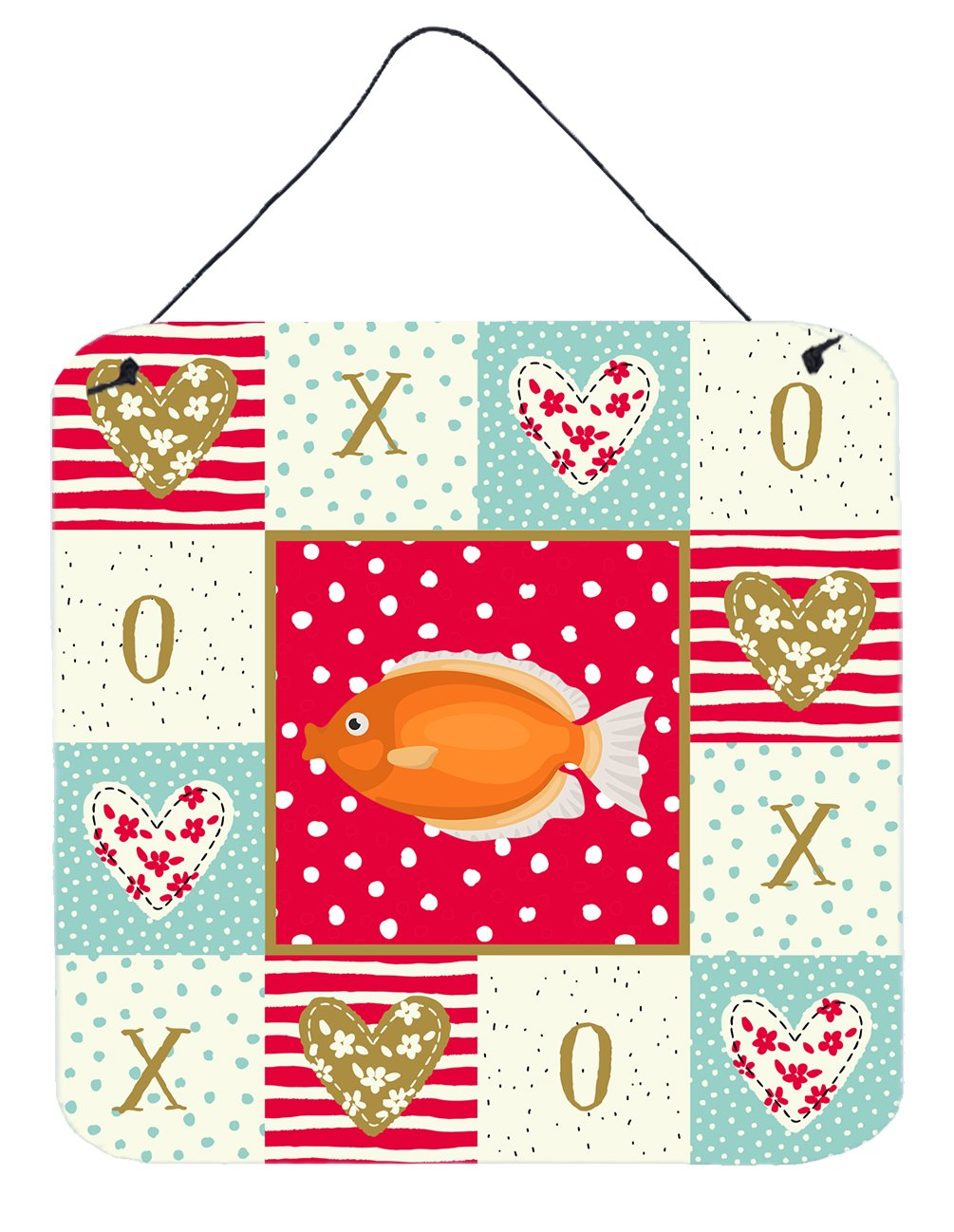 Kissing Gourami Love Wall or Door Hanging Prints CK5488DS66 by Caroline's Treasures