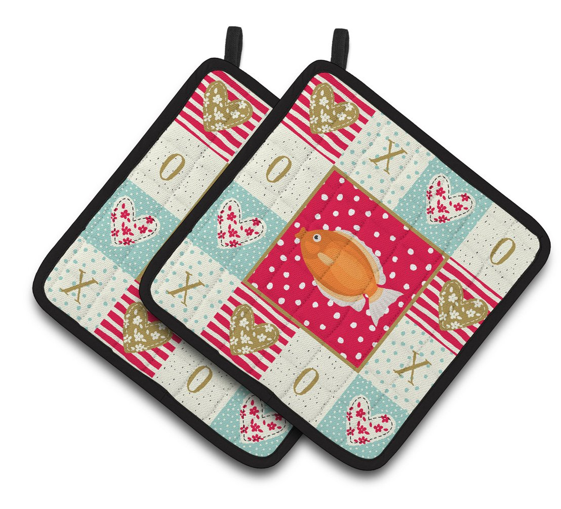 Buy this Kissing Gourami Love Pair of Pot Holders CK5488PTHD