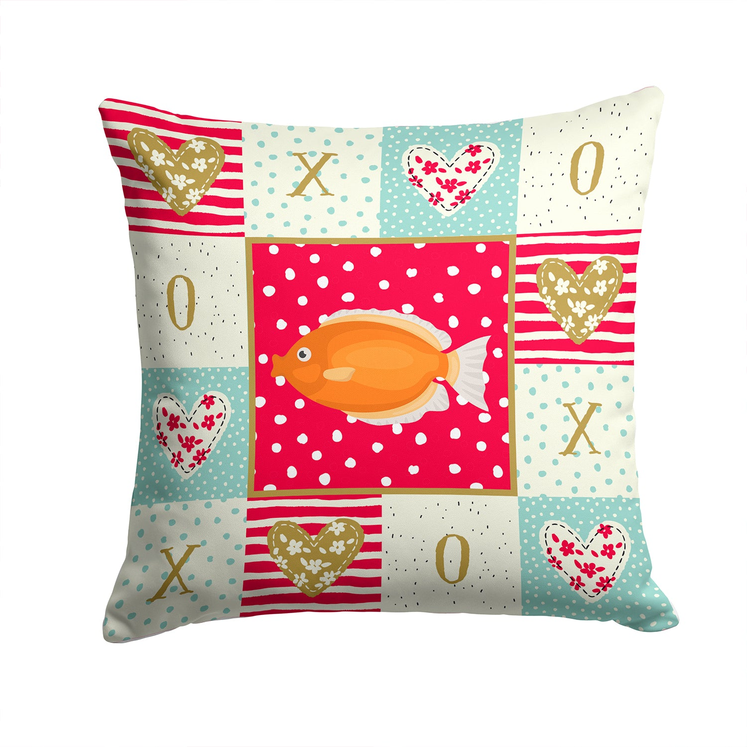 Kissing Gourami Love Fabric Decorative Pillow CK5488PW1414 by Caroline's Treasures