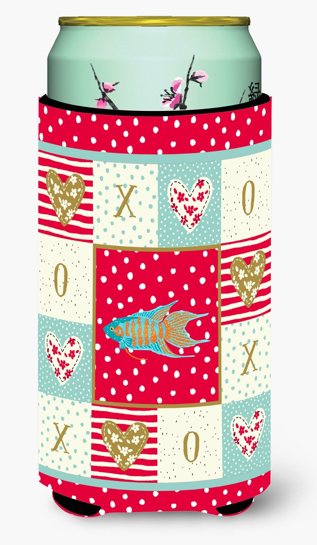Paradise Fish Love Tall Boy Beverage Insulator Hugger CK5491TBC by Caroline's Treasures