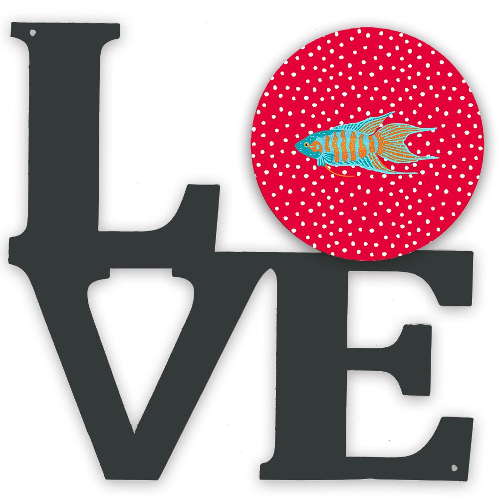 Paradise Fish Love Metal Wall Artwork LOVE CK5491WALV by Caroline's Treasures