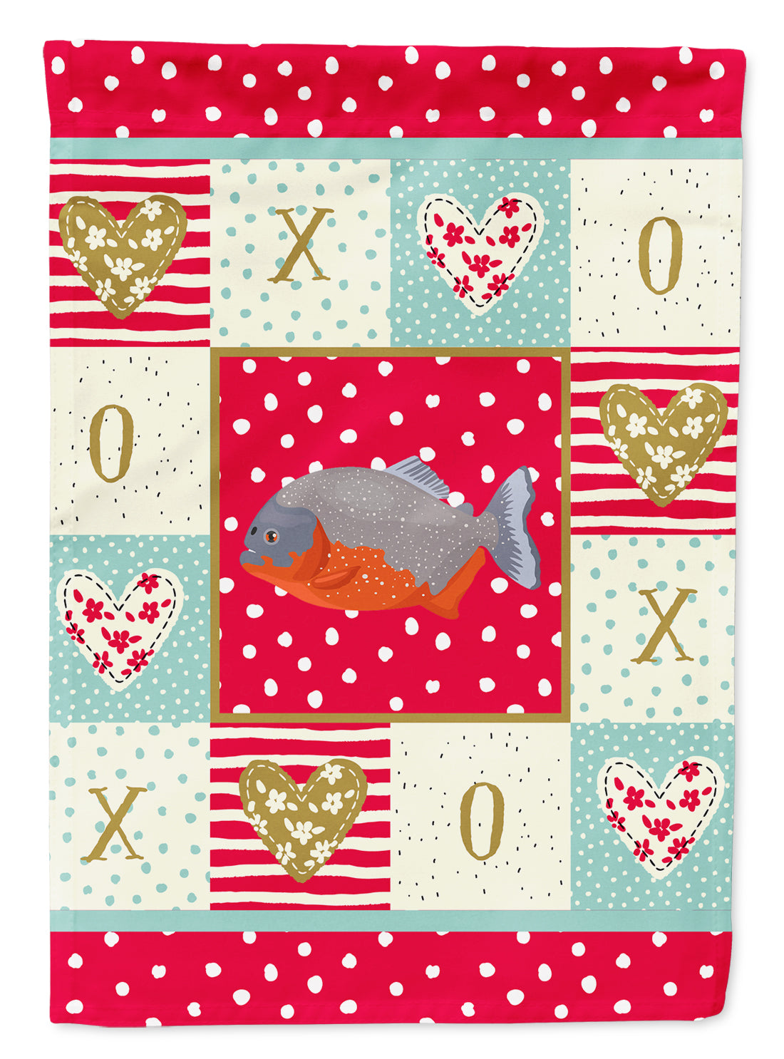 Piranha Love Flag Garden Size CK5495GF by Caroline's Treasures