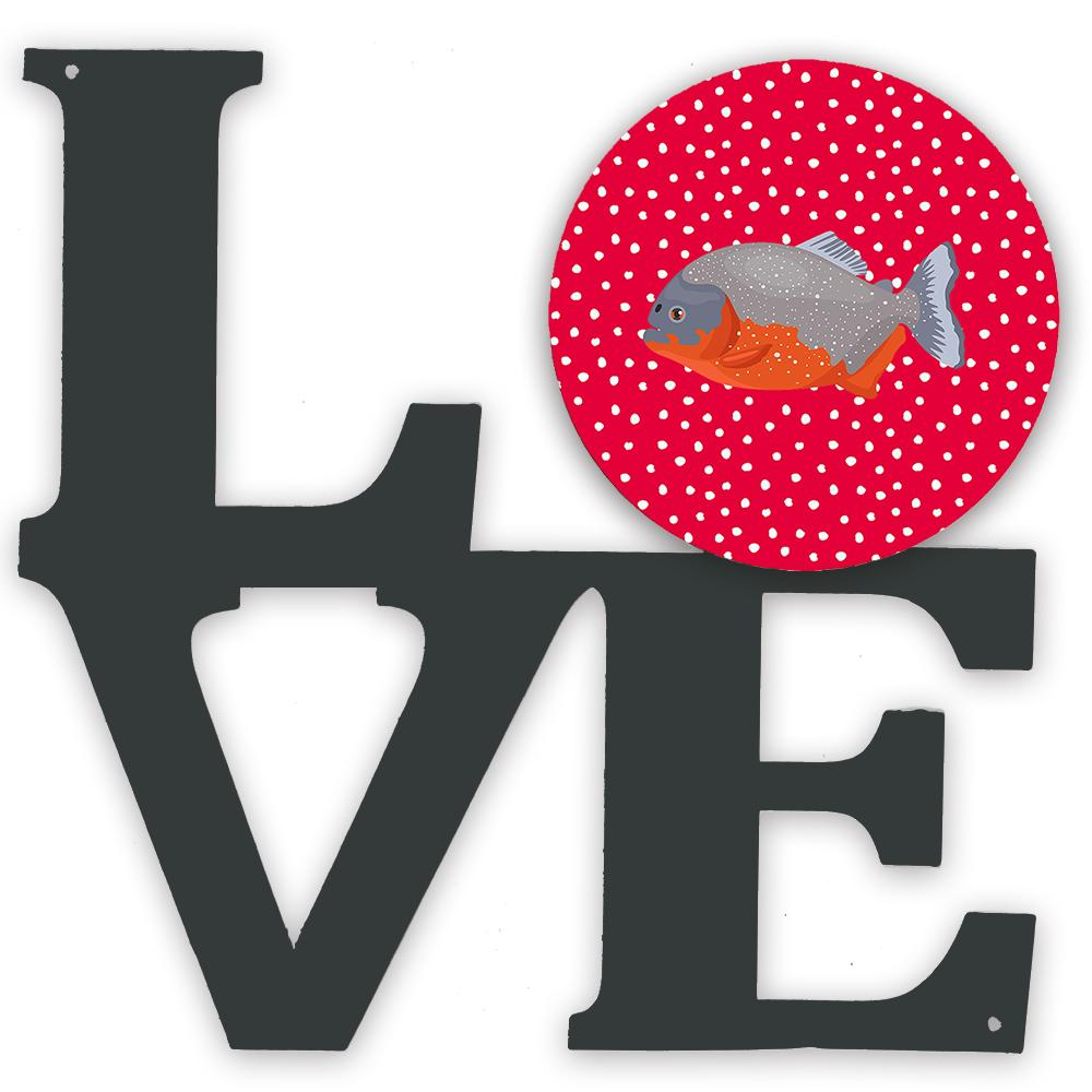 Piranha Love Metal Wall Artwork LOVE CK5495WALV by Caroline's Treasures