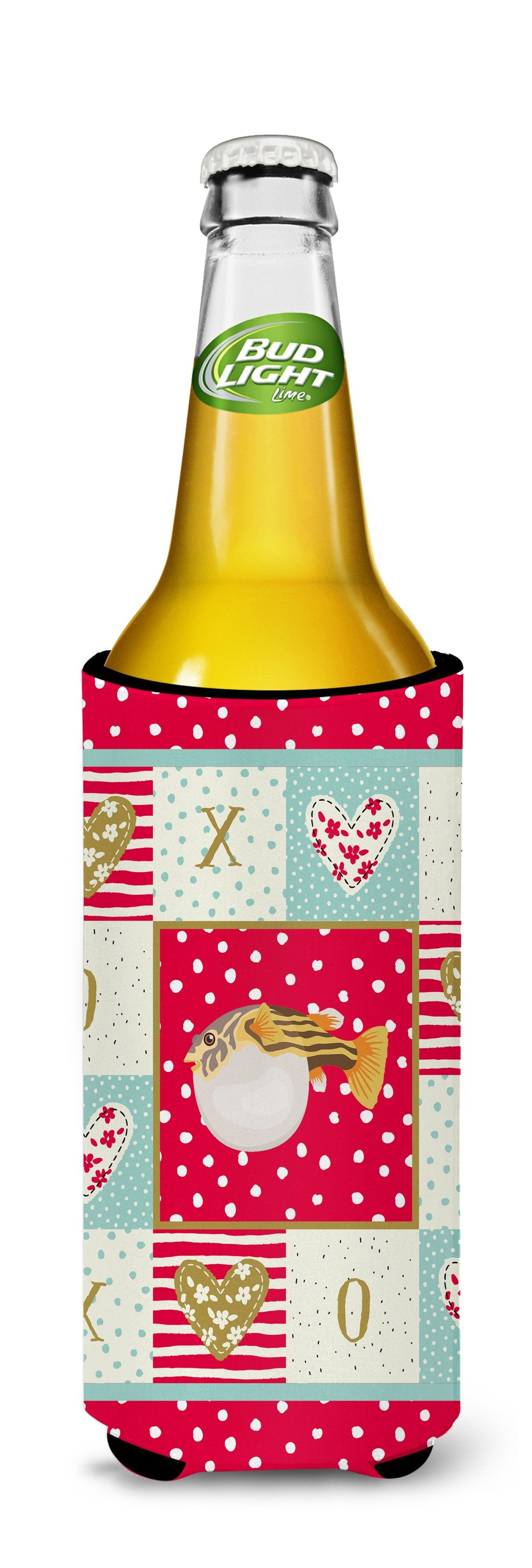 Puffer Fish Love Michelob Ultra Hugger for slim cans CK5496MUK by Caroline's Treasures