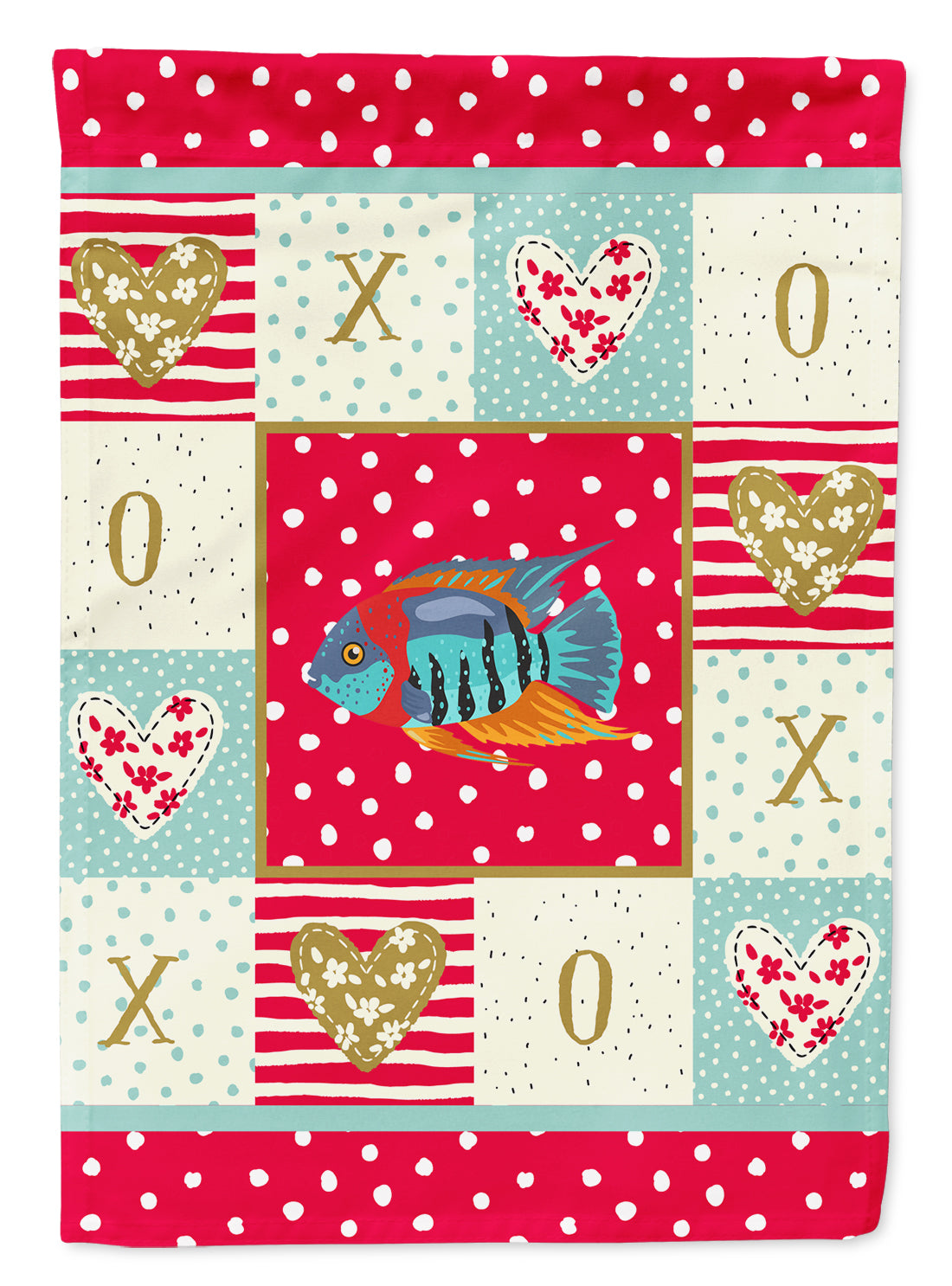 Severum Love Flag Canvas House Size CK5497CHF by Caroline's Treasures