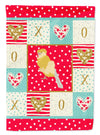 French Curly Canary Love Flag Canvas House Size CK5502CHF by Caroline's Treasures