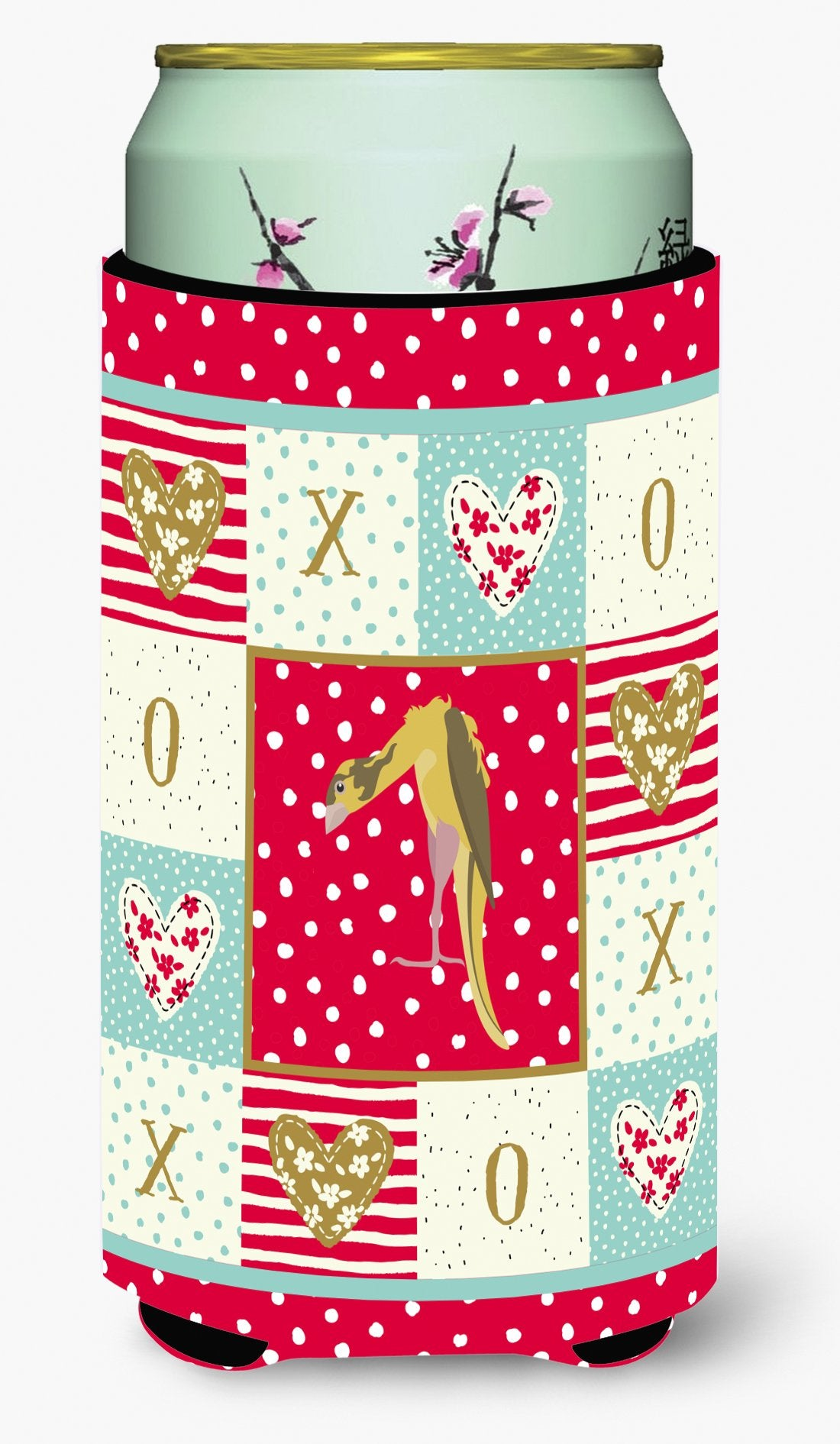 Jibso Canary Love Tall Boy Beverage Insulator Hugger CK5503TBC by Caroline's Treasures