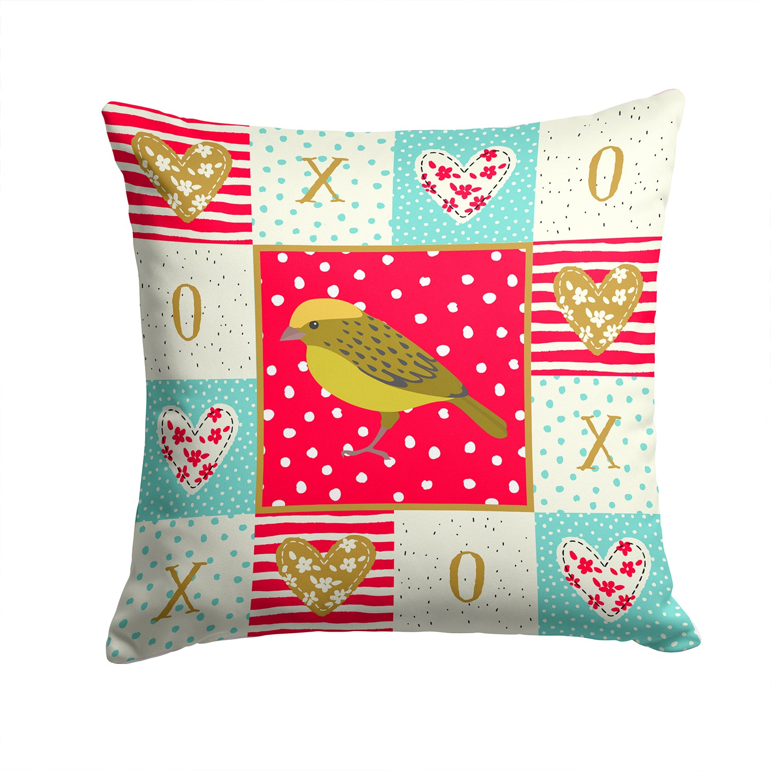 Buy this Lizard Canary Love Fabric Decorative Pillow CK5504PW1414