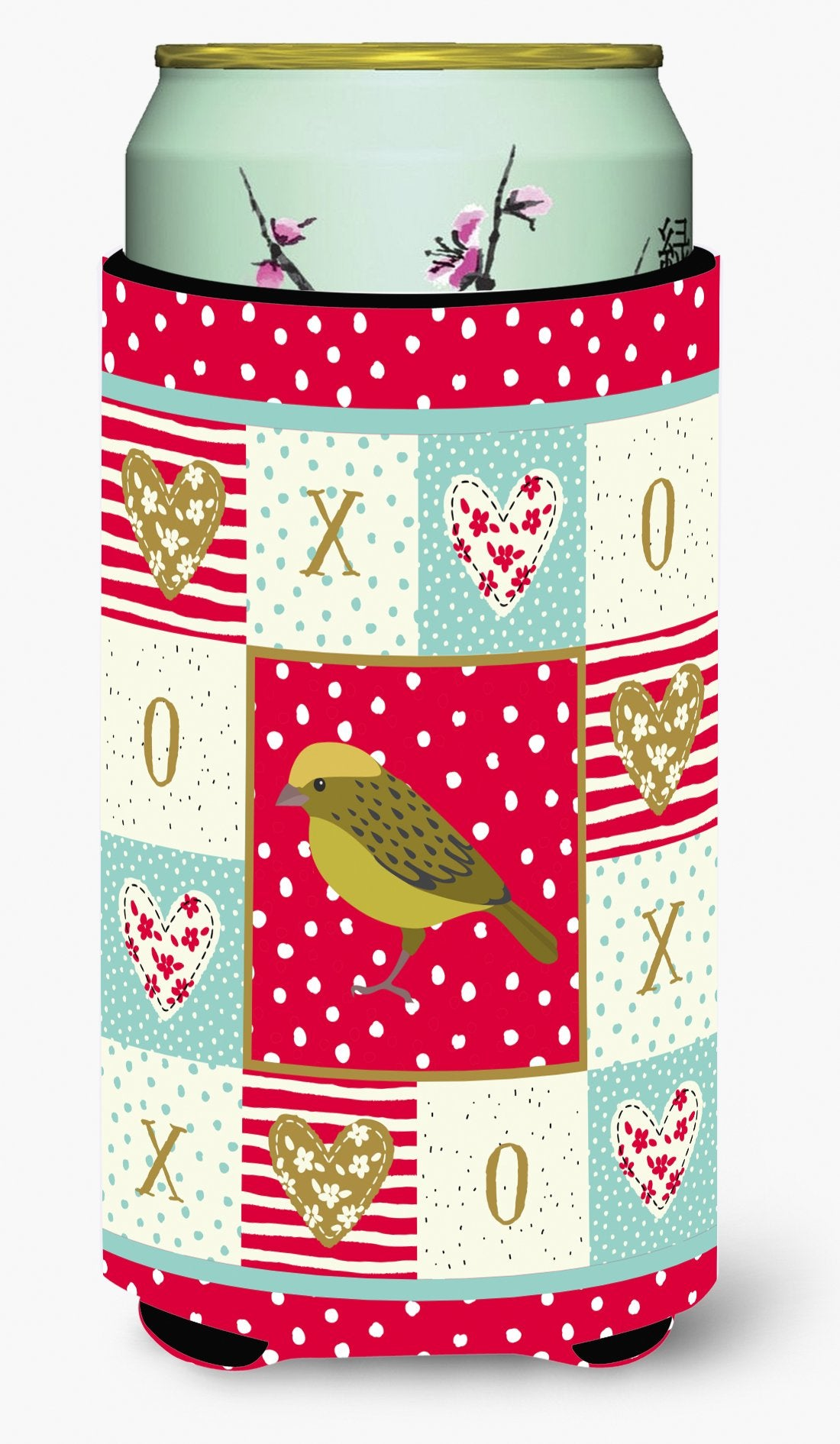 Buy this Lizard Canary Love Tall Boy Beverage Insulator Hugger CK5504TBC