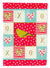London Canary Love Flag Canvas House Size CK5505CHF by Caroline's Treasures