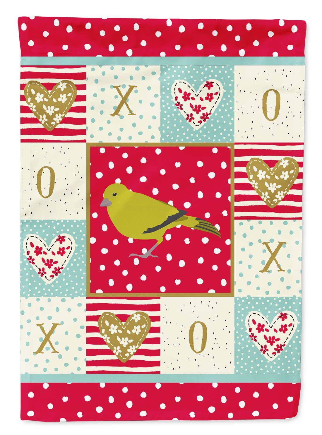London Canary Love Flag Garden Size CK5505GF by Caroline's Treasures