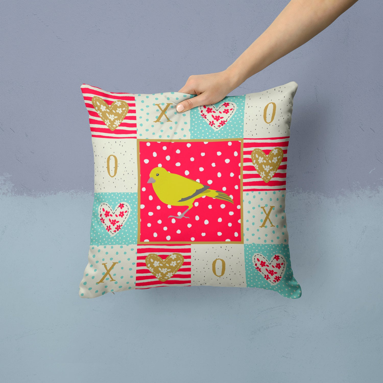 Buy this London Canary Love Fabric Decorative Pillow CK5505PW1414