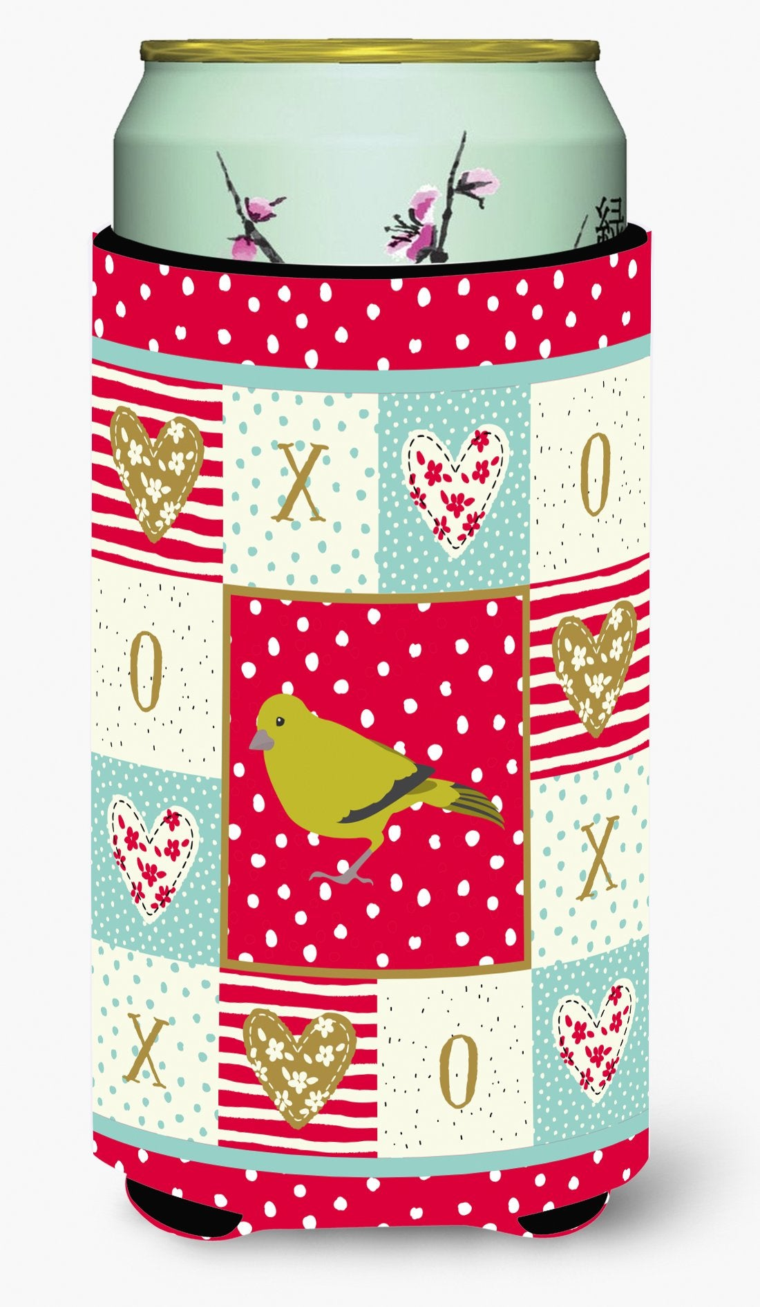 London Canary Love Tall Boy Beverage Insulator Hugger CK5505TBC by Caroline's Treasures