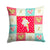 Buy this Parisian Trumpeter Canary Love Fabric Decorative Pillow CK5507PW1414