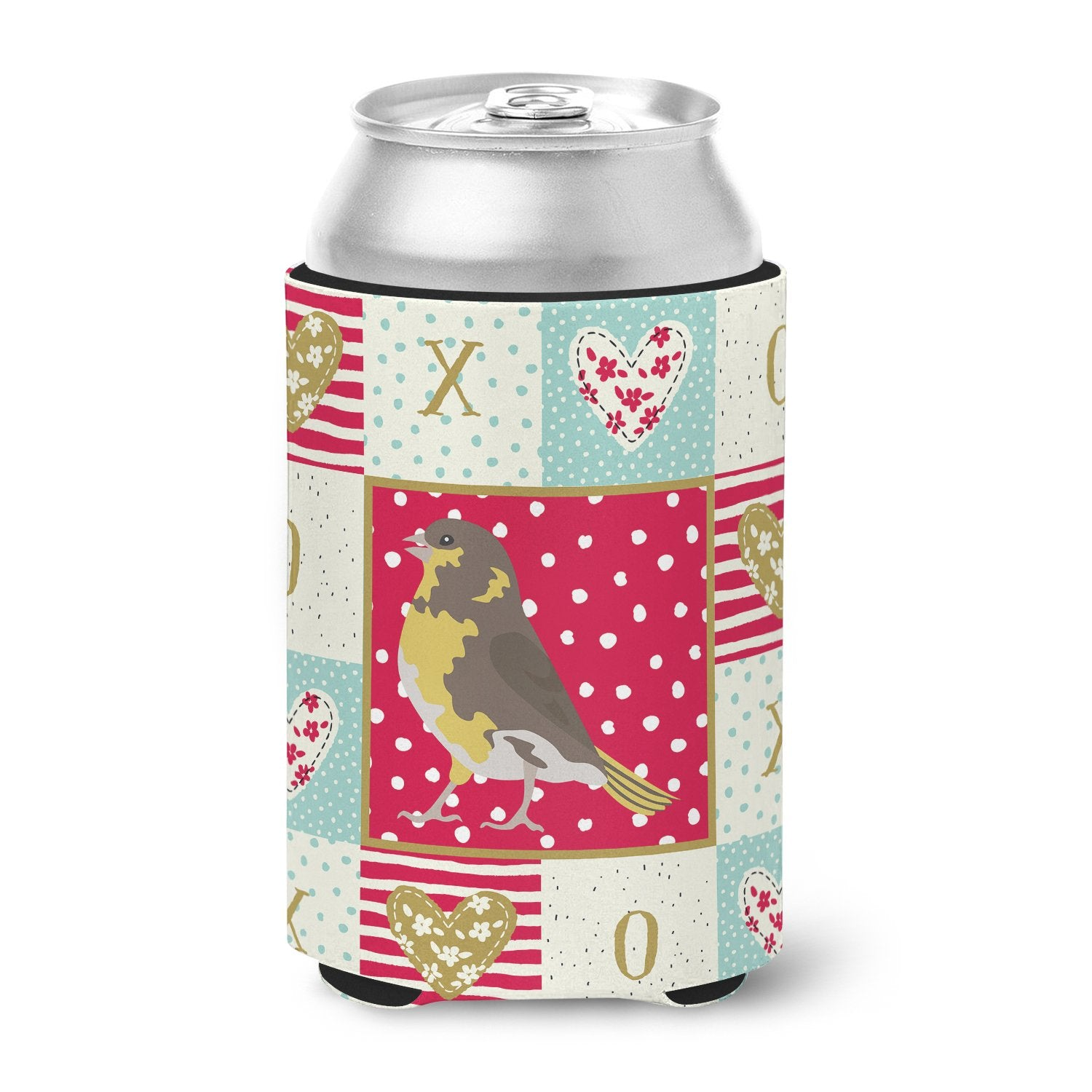 Spanish Canary Love Can or Bottle Hugger CK5508CC by Caroline's Treasures