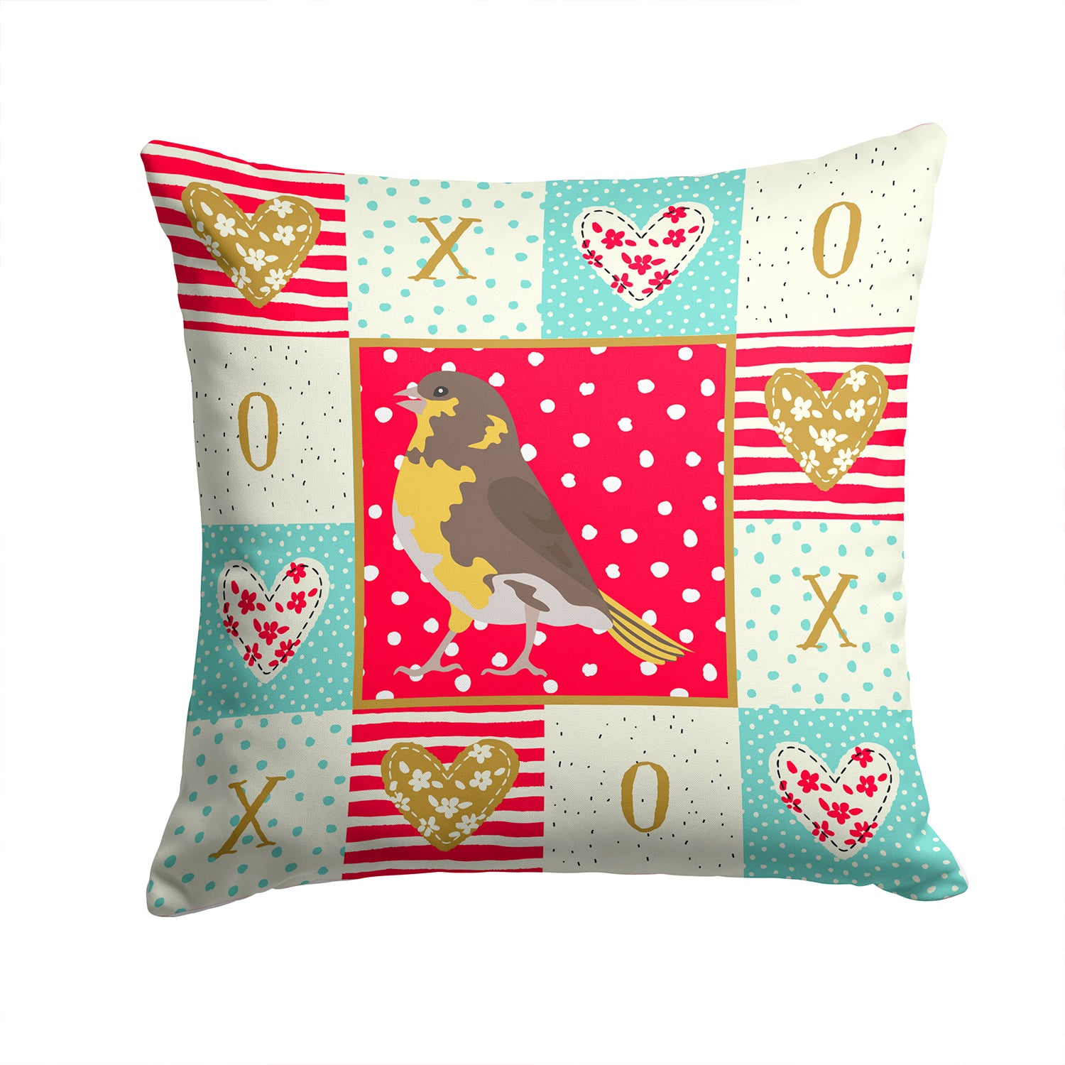 Buy this Spanish Canary Love Fabric Decorative Pillow CK5508PW1414