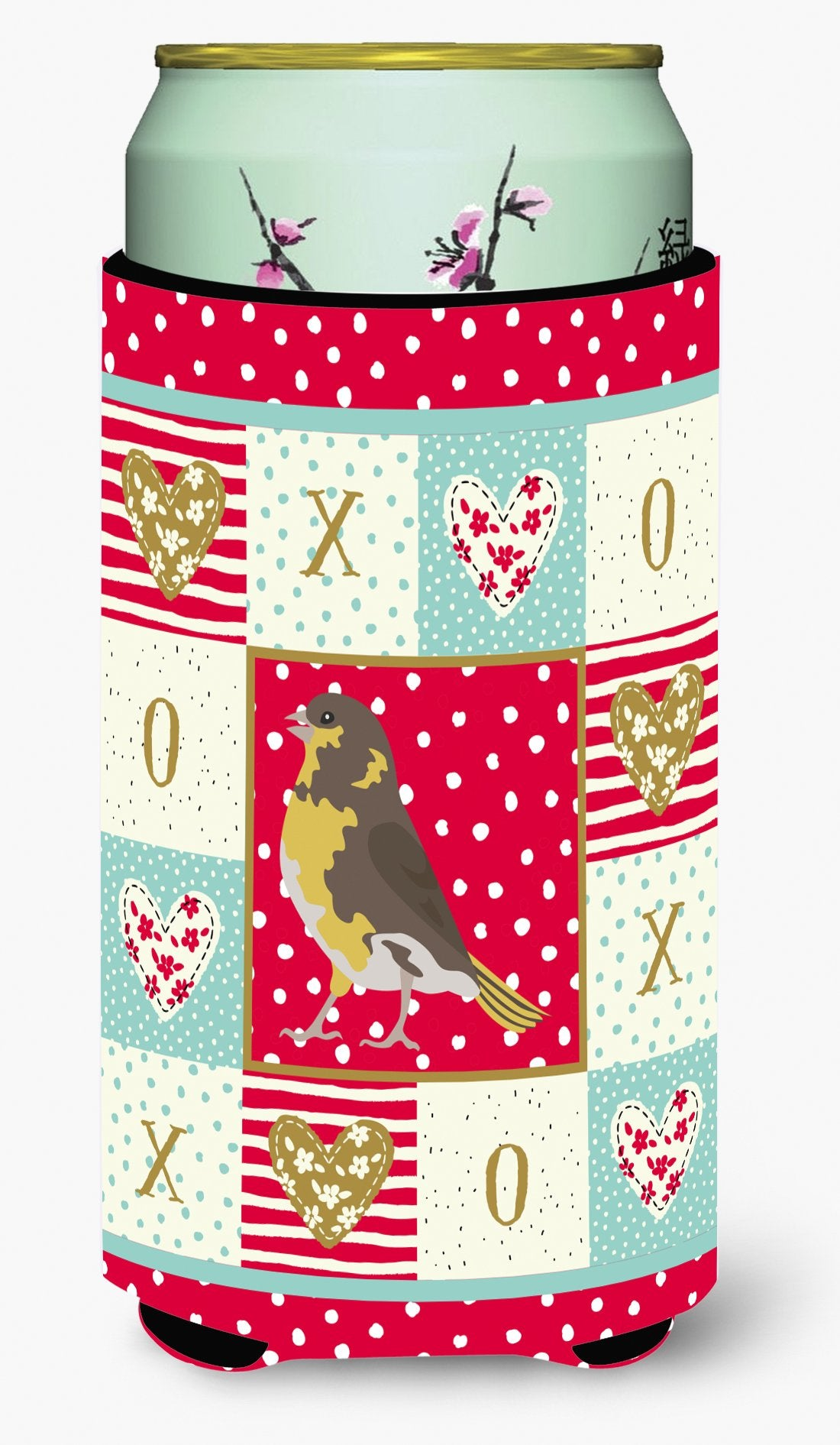 Spanish Canary Love Tall Boy Beverage Insulator Hugger CK5508TBC by Caroline's Treasures