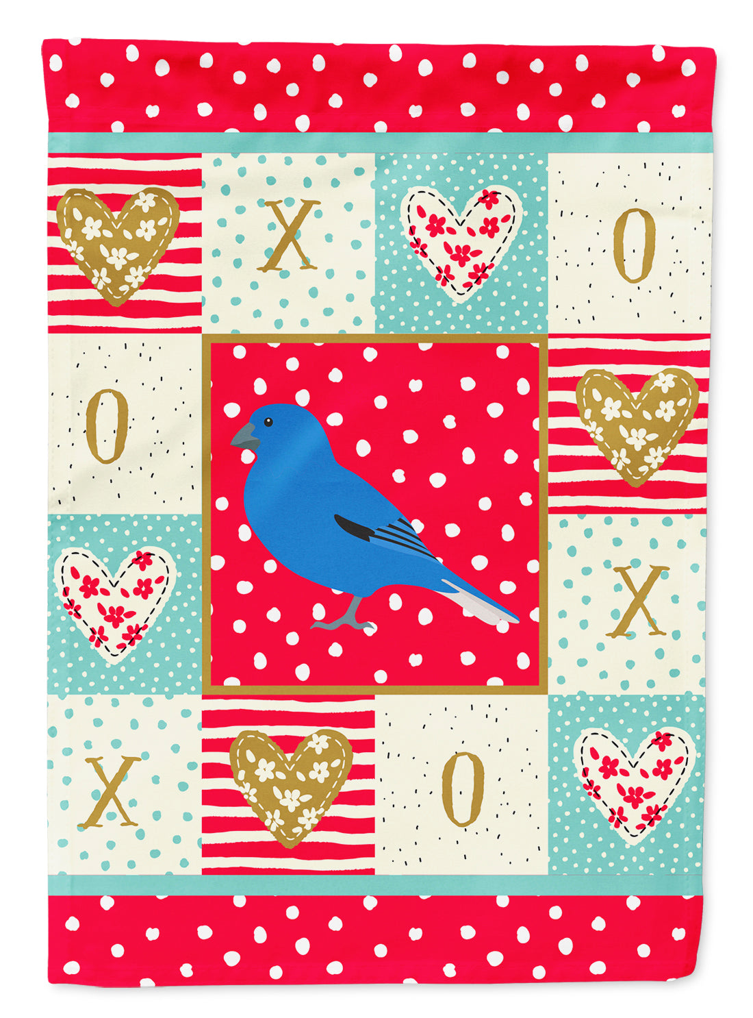 Bunting Love Flag Canvas House Size CK5510CHF by Caroline's Treasures