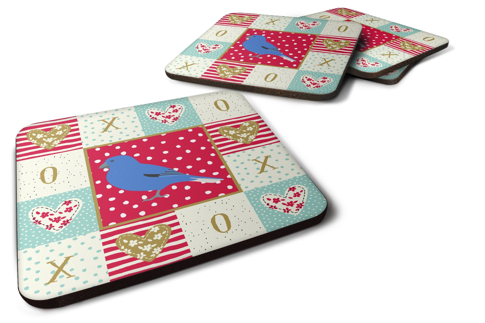 Buy this Set of 4 Bunting Love Foam Coasters Set of 4 CK5510FC